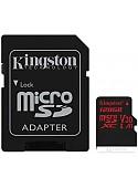 Карта памяти Kingston Canvas React SDCR/128GB microSDXC 128GB (с адаптером)