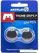 Накладки для стиков Artplays Thumb Grips вогнутые для PS4 (2 шт., черный)