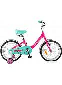 Детский велосипед Novatrack Ancona 16 (розовый/голубой, 2018)