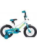 Детский велосипед Novatrack Valiant 14 (белый/голубой, 2019)
