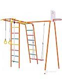 Детский спортивный комплекс Формула здоровья Street 1 Smile (оранжевый/радуга)