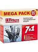 """Таблетки для посудомоечной машины Filtero """"7 в 1"""" 90шт."""
