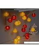 Гирлянда Luazon Клубки красно-золотистые 3590726