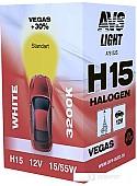 Галогенная лампа AVS Vegas H15 12V 15/55W 1шт [A78152S]